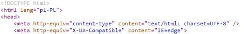Kod źródłowy strony na WordPressie